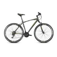 """Kron Tx 150 28 Jant City 16"""" 21 Vites V-Fren Siyah - Lime - Beyaz Şehir Bisikleti"""