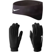 Nike Men's Running Thermal Headband/Glove Set Xl Black/Silve