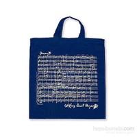 Mozart Notalı Çanta Lacivert