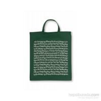 Notalı Çanta Yeşil