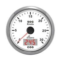 Wema Hız Gösterge ve Pusula 30 Knots ( GPS ) Uydudan ölçer. (NEW) BEYAZ