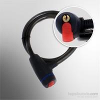 X-Bicycle Tex 2116 Çelik Örgü Halat Sert PVC Kaplı Sprol Kilit (12x1500 mm)