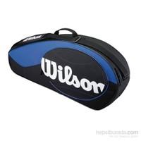 Wilson Wrz 820403 Match Mavi 3 lü Raketi Çantası