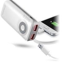 Cellular Line Freepower Dual 5200Mah Powerbank Harici Şarj Cihazı Beyaz