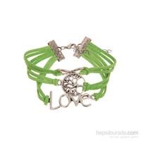 Betico Fashion Yeşil Aşk Ve Sonsuzluk Bilekliği