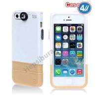 Case 4U Apple iPhone 6S Macro Lensli Kapak Beyaz