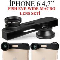 Markacase İphone 6 Balık Göz+Wıde Angel+Macro Lens Seti