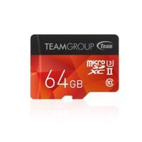 Team Xtreem 64GB microSD 3D Video 4K UHS Tam Uyumlu 250MB/Sn Class10 SDHC UHS-II U3 Flash Hafıza Kartı+SD Adaptör (TMMSD64GU3250)