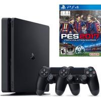 Sony Ps4 Slim 500 GB Cuh - 2016A Oyun Konsolu + Pes 2017 (Türkçe) + 2. Kol