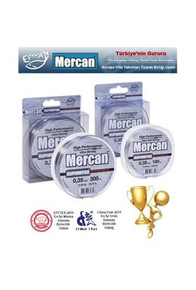 Mercan Euphrates Dynamic Fluoracarbon Coated Gümüş Gri Misina - 300Mt Makara