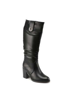 Miss F F17029 Siyah Kadın Çizme