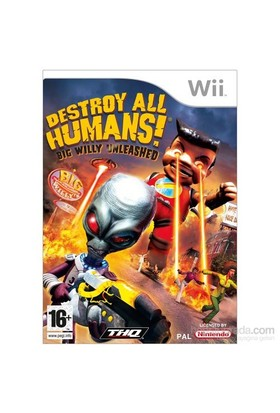 Thq Wii Destroy All Humans Bıg Wılly Unleashed