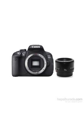 Canon Eos 700D + 50Mm F 1.8 + Çanta + 16 Gb Hafıza Kartı