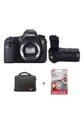 Canon Eos 6D + Battery Grip + Hafıza Kartı + Çanta