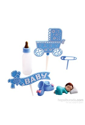 KullanAtMarket Mavi Bebek Pasta Dekor Seti 1 Adet