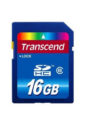 Transcend 16GB Class 6 SDHC Hafıza Kartı TS16GSDHC6