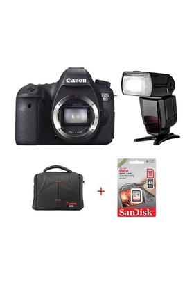 Canon Eos 6D + Ttl Flash + Hafıza Kartı + Çanta