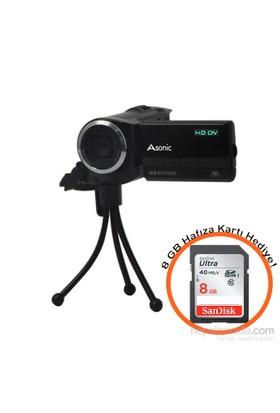 Asonic Dv-006B Video Kamera 8 Gb Hafıza Kartı Hediyeli