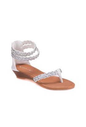 Pink Step 201591 Beyaz Kız Çocuk Sandalet