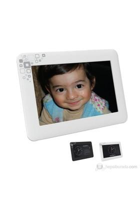 """Goldmaster PF-670 6"""" LCD Ekran Dijital Fotoğraf Çerçevesi-Beyaz"""