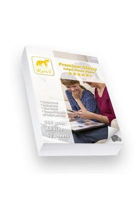 Rovi Premium Parlak Fotoğraf Kağıdı - 300Gsm - 50Yp - A4