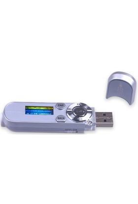 Powerway PW-06 4GB FM Radyo + Ses Kayıt Mp3 Çalar (Li-ion Batarya) - Gümüş