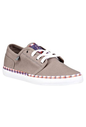 Dc D0320239 Gryd Gri Kadın Deri Sneaker