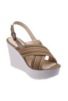 Polaris 61.308555.Z Taupe Kadın Sandalet