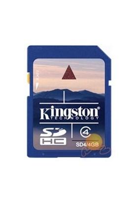 Kingston 4 GB Class 4 SDHC Hafıza Kartı SD4/4GB