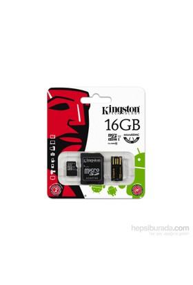 Kingston 16GB Mobilty Kit MicroSD Class 10 Sd + Usb Adaptör Kit Hafıza Kartı MBLY10G2/16GB