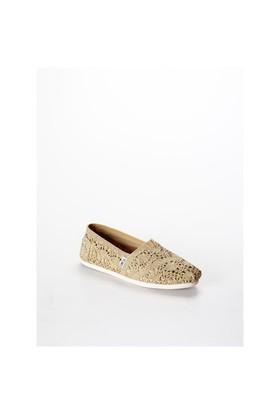 Toms Gold Crochet Metallic Wm Alpr Esp Kadın Günlük Ayakkabı 10008006 10008006.Glcr