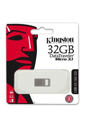Kingston 32GB DTMICRO 3.1/3.0 Metal USB Bellek DTMC3/32GB