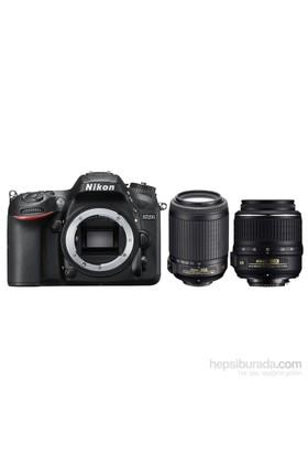 Nikon D7200 + 18-55 Vr + 55-200 F/4.5-5.6G If Af-S Dx Vr + Çanta + 16 Gb Hafıza Kartı