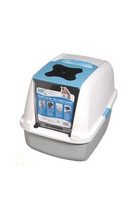 Catit Kapalı Kedi Tuvalet Kabini Mavi (57X46,5X39)