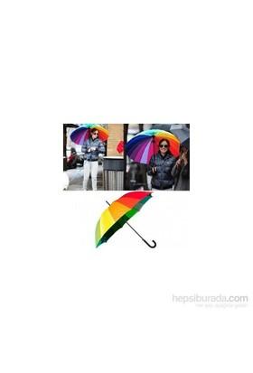 Rengarenk Gökkuşağı Şemsiye