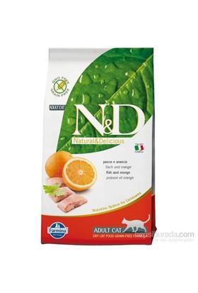 N & D Tahılsız Balıklı Ve Portakallı Yetişkin Kedi Maması 1,5 Kg