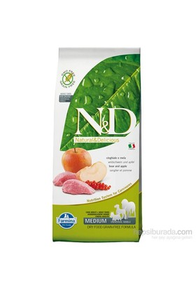 N&D Yaban Domuzlu Elmalı Tahılsız 12 Kg Yetişkin Köpek Maması