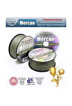 Mercan PE-Braid Premium İp Misina, Yeşil, 100mt