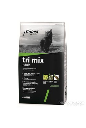 Golosi Cat Tri Mix Sığır Etli, Tavuk Etli Ve Pirinçli Yetişkin Kedi Maması 400 Gr