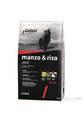 Golosi Cat Manzo & Rıso Sığır Etli, Tavuk Etli Ve Pirinçli Yetişkin Kedi Maması 400 Gr