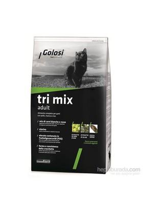 Golosi Cat Tri Mix Sığır Etli, Tavuk Etli Ve Pirinçli Yetişkin Kedi Maması 1,5 Kg