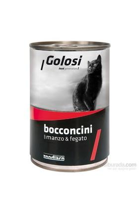 Golosi Chunks / Bocconcini Cat Sığır Etli ve Ciğerli Kedi Konservesi 400 Gr