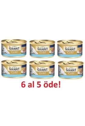 Purina Gourmet Gold Kıyılmış Ton Balıklı 85 gr 6 al 5 Öde!
