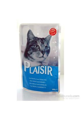 Plaisir Pouch Alabalık-Karidesli Yaş Kedi Maması 100 Gr