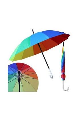 Uygun Rengarenk Gökkuşağı Şemsiye