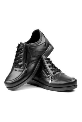 Y.T.S. Bağcıklı Fermuarlı Erkek Ayakkabısı