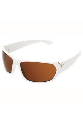 Cebe Trekker Shiny Beyaz 1500Kahverengi Lens Güneş Gözlüğü CBTREK3