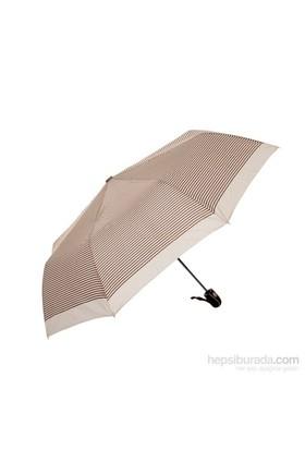 Biggbrella 10319Q67R Otomatik Şemsiye Çizgili Pembe