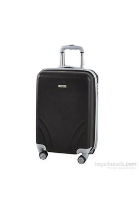 TUTQN Kırılmaz Plastik Bavul Kabin Boy Valiz %100 PP Siyah