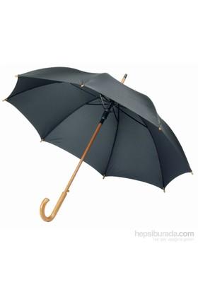 Centrixx 19547952 Siyah Ahşap Saplı Şemsiye